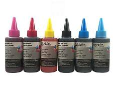 6 Bulk refill ink for Epson inkjet printer 6 colors 6x100ml BK/C/M/Y/LC/LM