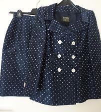ESCADA Couture_Damen Anzug Kosüm Blazer & Rock Jackett Jacke Seide Gr.38