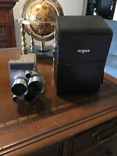 Vintage Argus M3 Zoom 8MM Movie Camera with Case Top Grain Cowhide made in USA