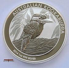 2014 1oz Australian Silver Kookaburra 1 ounce Silver Bullion Coin unc: