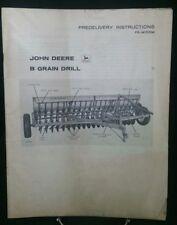 John Deere B Grain Drill Predelivery Instructions PDI-M15553M