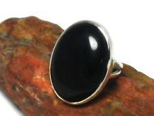 BLACK  ONYX   Sterling  Silver  925  Gemstone  RING  -  Size:  Q