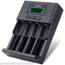 Soshine Li-ion NiCd NiMh LCD AA AAA 4-Slot Battery Charger EU Plug 26650 18650