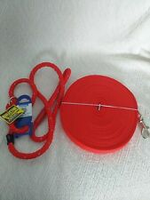 Dog lead bundle. Slip lead & training/recall long lead. New. Bargain.