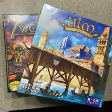 LOT of 2 - EURO STYLE Ulm & 7 Wonders Board Game REPOS R&R Games SEALED