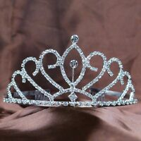 Pretty Tiaras Hair Combs Wedding Bridesmaid Crowns Rhinestone Pageant Prom Party