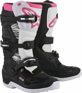 Alpinestars 2018 Tech 3 Stella Boots 8 Black/White/Pink 2013218-130-8