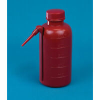 500mL Red Unitary Wash Bottles  4 pk