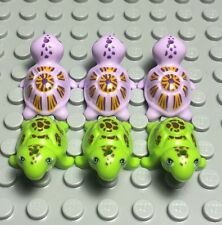 Lego new friends turtle sea animal pet lavender x3 and lime green x3 (x6 total)