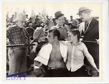 Boy hugs John Wayne barechested boxer VINTAGE Photo Conflict