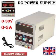 New 220V DC LED Lab Grade Regulated Variable Power Supply 0-30V and 0-5A