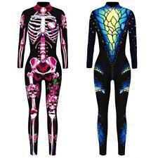 Halloween Cosplay Women Jumpsuit Bodysuit Bodycon Fancy Dress Costume Catsuit