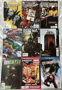 Marvel Comics 9 Issue Collection Fantastic Four, Spider-Man, Thunderbolts, X-Men