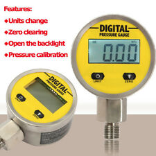 "Digital Hydraulic Pressure Gauge 0-250BAR / 3600PSI NPT1/4"" - Base Entry New"