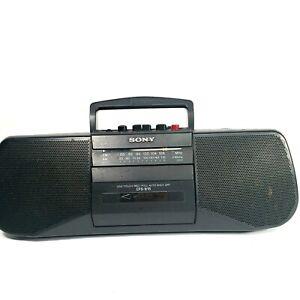 Sony CFS-B15 AM / FM Radio Cassette Recorder Player Portable Boom Box Black