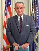Historical Photograph Unites States 36th President  Lyndon B. Johnson 1969  8x10