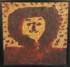 Mary T Smith  Folk Art  Painting Outsider  Portrait  Brown Face