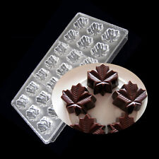 3 D Maple Leaf Shape Polycarbonate Chocolate Mold Molds Candy Cokkies Cake Mould