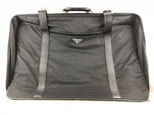 Prada Valigia Bag Travel Nera Black Tela Pelle Grande Con Dustbag Usata Bella