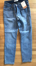 NWT Lauren Conrad LC Women's Skinny Ankle Mid Rise Jeans,Size 4,MED BLUE,OR:$50