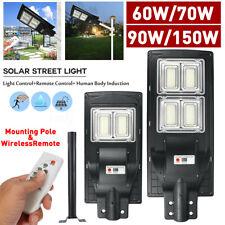 90W/150W Solar Led Street Lights Infrared Sensor Motion Wall Lights Dusk to Dawn