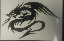 2 x Chinese Dragon Tribal - Black - Vinyl Cut Car Decal sticker, Wall Art laptop