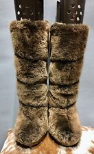 Tory Burch Sheepskin Fur Boots UK4 Worn Once RRP £395