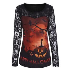 Halloween Costume Blouse Women  Hoodie Sweatshirt Ladies Long Sleeve Funny Tops