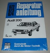 Reparaturanleitung Audi 200 Typ 43 C2 5 Zylinder 136 PS 5T Turbo 170 PS ab 1979!