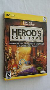 BRAND NEW Sealed National Geographic: Herod's Lost Tomb (PC, 2009)