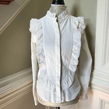 Isabel Marant Etoile Blouse Shirt Women's 38 4 Button Down Long Sleeve Ivory EUC