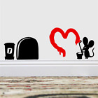 Funny Love Mouse Hole Wall Stickers Decal Art Kid Room Home Decor Mural Vinyl