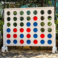 Giant Connect 4 In A Row Jumbo Yard Game Toys Gift Kids Adults Wood Board Family