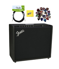 Fender Mustang GT 100 Watt Bluetooth Guitar Amplifier, Cable and Picks Bundle