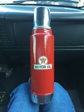 Vintage Aladdin Stanley Thermos Red Texaco Motor Oil A-944C Quart 32 Oz #100 Cup