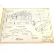 Vtg 1964 Farm Building Plans For Pole Construction Book by Midwest Plan Service