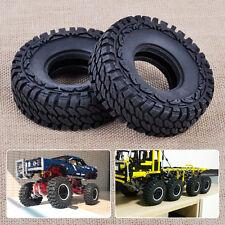 2x Tyre Tire Wheel Fit For 4WD RC 1/10 SCX10 D90 Model Car Rock Crawler Black