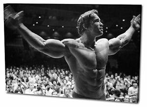 Leinwandbild Arnold Schwarzenegger in Pose!