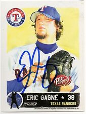 2007 Texas Rangers Dr. Pepper Eric Gagne *AUTOGRAPHED* SGA