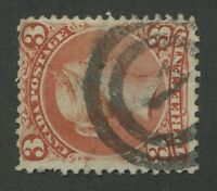 """CANADA #25 USED LARGE QUEEN 2-RING NUMERAL CANCEL """"7"""" (.02)"""