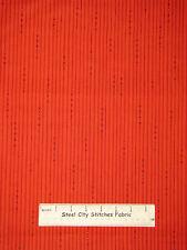 Christmas Stripe Dot Red  #3291 Cotton Fabric Benartex Ho Ho Let It Snow YARD