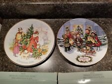 Avon Christmas Plates Lot if 2  1990 1991 with  original boxes