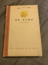 On Time, History Electro-Motive Division General Motors Co 1948 Franklin M Reck