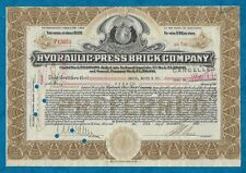 1936 SHARE CERTIFICATE FOR HYDRAULIC PRESS BRICK COMPANY OF ST. LOUIS, AMERICA