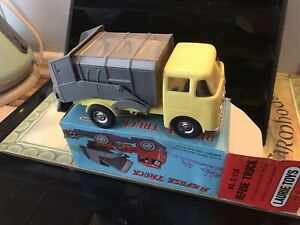 Laurie Toys Plastic ERF Dustcart with pull back mechanism 1960,s Hong Kong VENY