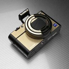 Gariz Metal Skin Sticker Sony RX100iii RX100IV MS-RX100M3CG Carbon Gold