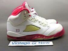 Girls Nike Air Jordan V 5 Scarlet Red Retro GS 2011 sz 6Y f2d186054
