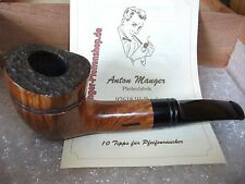 UNIQUE Anton Manger (UNSMOKED) German Freehand Estate Briar Pipe 2.52oz 9mm Ftr