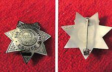 San Juan Bautista, California old antique police badge