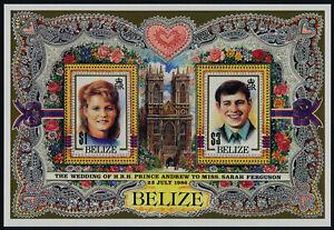 Belize 834 MNH Prince Andrew, Sarah Ferguson Wedding, Flowers, Roses